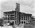 Construction of Coral Gables City Hall, 1927