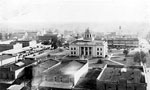 Bird's Eye View Looking Towards the Gadsden County Courthouse, Quincy, 192-