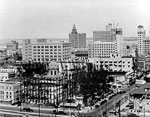 Old Dade County Courthouse with Steelwork for the 1925-27 Courthouse, Miami, 192-