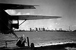 Miami Skyline From Beside Airplane, 1946
