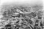 Clipper Airplane Over Downtown Miami and Bayfront Park, 193-