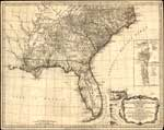 SE US hydrographical map, 1776