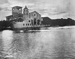 View of the Everglades Club from Lake Worth, 1928