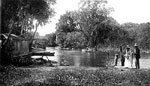 People by Boathouse at Spring, De Leon Springs, 19--