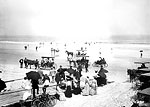 People Enjoying Daytona Beach, 1904