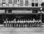 Western Union Messengers With Their Bikes, Tampa, 1921