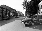 Cars Parked Along Worth Avenue, Palm Beach, Florida, 1946