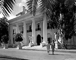 Two women leave from the Whitehall, the Flagler Museum, Palm Beach Florida, 1960