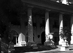 Shady front entrance to the Whitehall the Flagler Museum, Palm Beach Florida, 1960
