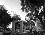 A garden area of the Whitehall the Flagler Museum, Palm Beach Florida, 1960