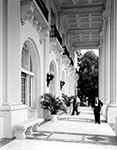 Sightseers visit the Flagler Museum, Palm Beach Florida, 1972