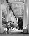 Entrance to the Flagler Museum, Palm Beach Florida, 1967