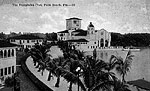 View of Everglades Club on Lake Worth, Palm Beach, Florida, 1920