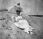 Lady in White Reclining on the Beach, Palm Beach, Florida, 1896