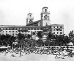 The Beach and Cabanas at The Breakers Hotel, Palm Beach, Florida, 19--