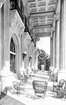 The Porch of the Royal Ponciana Hotel, Palm Beach Florida, 1920s