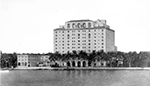Whitehall Hotel from Lake Worth After 1925, Palm Beach Florida