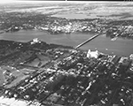 Aerial View Showing a Couple of Palm Beach Hotels, 1948