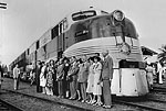 Arrival of the Orange Blossom Special Train, West Palm Beach, Florida, 1938