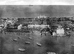 Aerial View of Hotels, Palm Beach, Florida, 19--