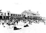 Crowded Beach at The Breakers Hotel, Palm Beach, Florida, 192-